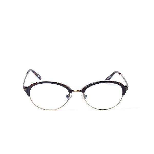 Óculos Receituário Otto - TARTARUGA com Dourado