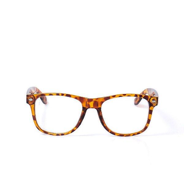 Óculos Receituário Otto - Animal Print Marrom