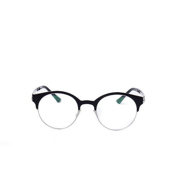 Óculos Receituário Otto - Preto e Prata Fosco
