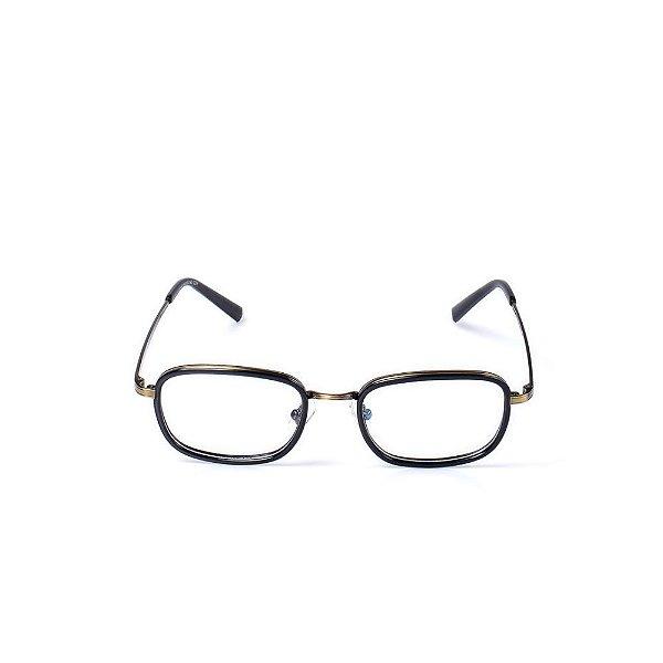 Óculos Receituário Otto - Preto e Dourado