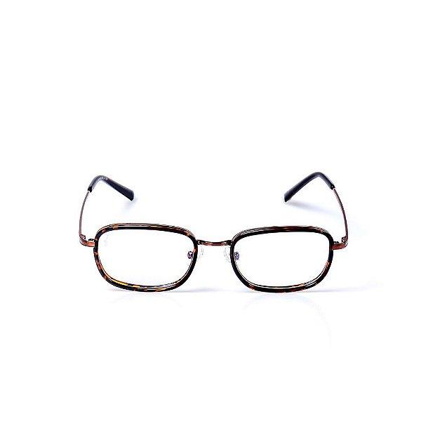 Óculos Receituário Otto - Animal Print com Marrom