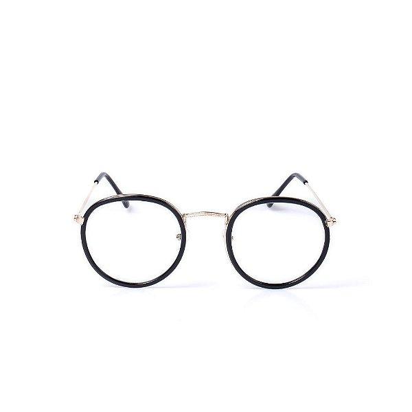 Óculos Receituário Otto - Dourado com Preto