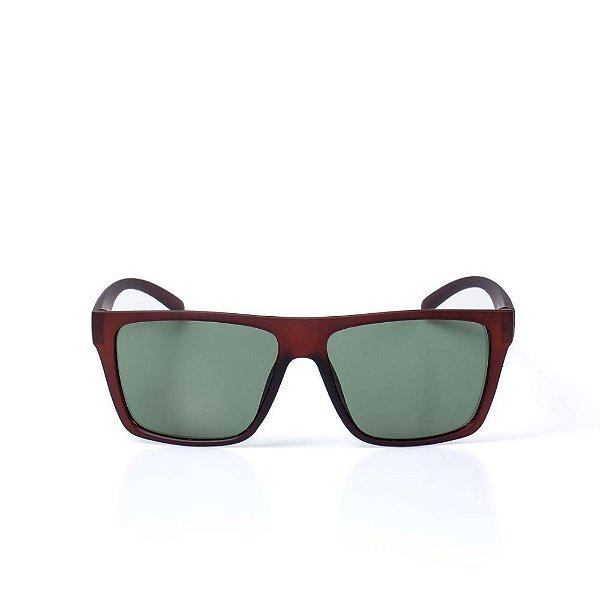 Óculos de Sol OTTO - Marrom Fosco Quadrado - OTOCSLL3055C5