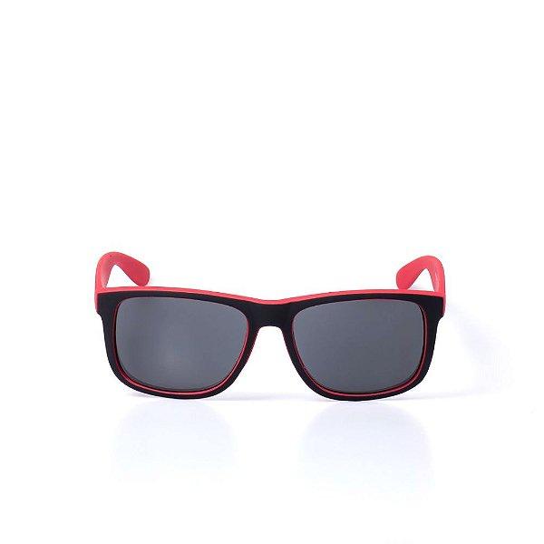 Óculos de Sol OTTO - Preto e Vermelho Fosco