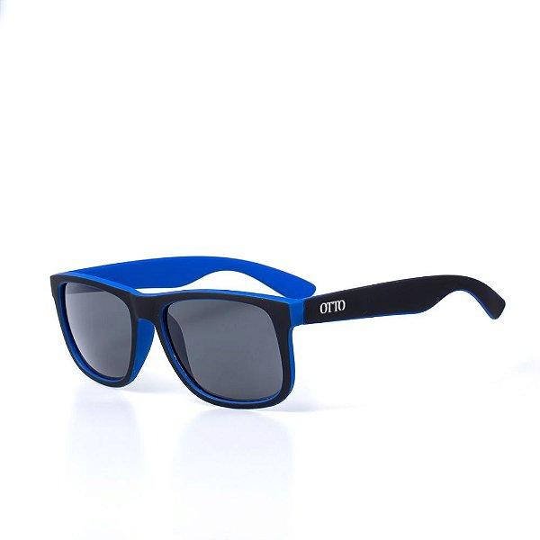 Óculos de Sol OTTO - Preto e Azul Fosco