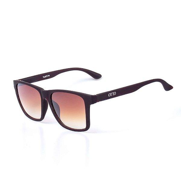Óculos de Sol OTTO - Marrom Fosco Quadrado