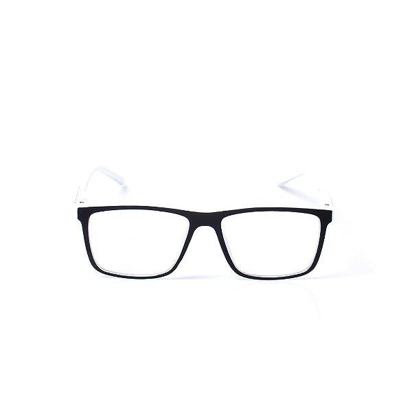 Óculos Receituário Otto - Branco e Preto Fosco