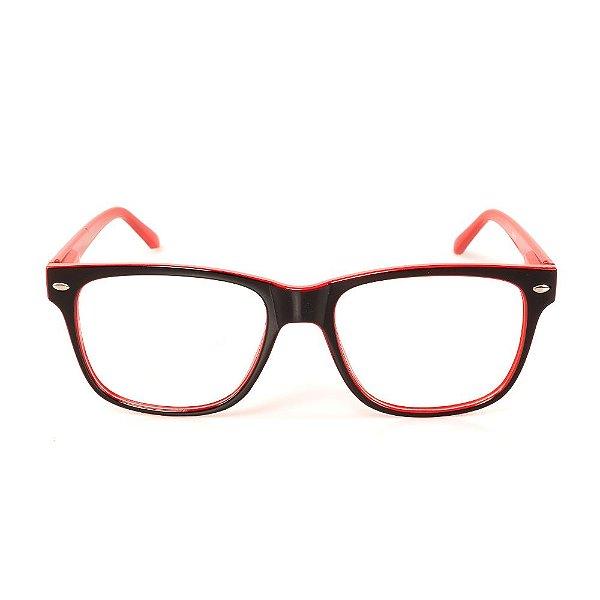 Óculos Receituário Titania Preto com Vermelho