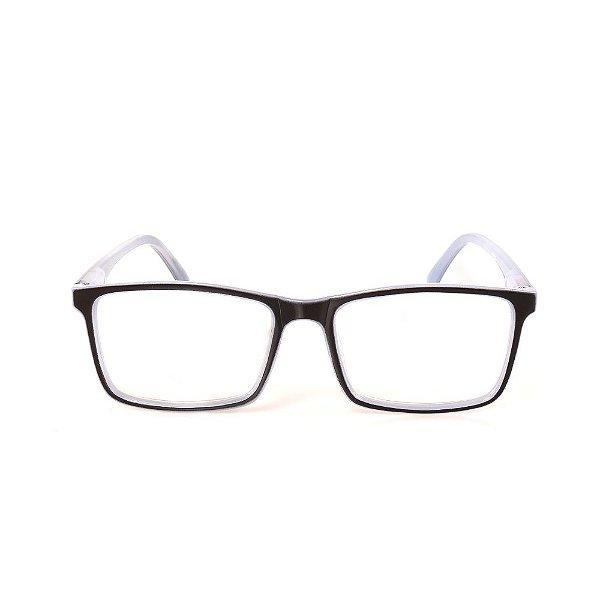 Óculos Receituário Titania Preto e Branco