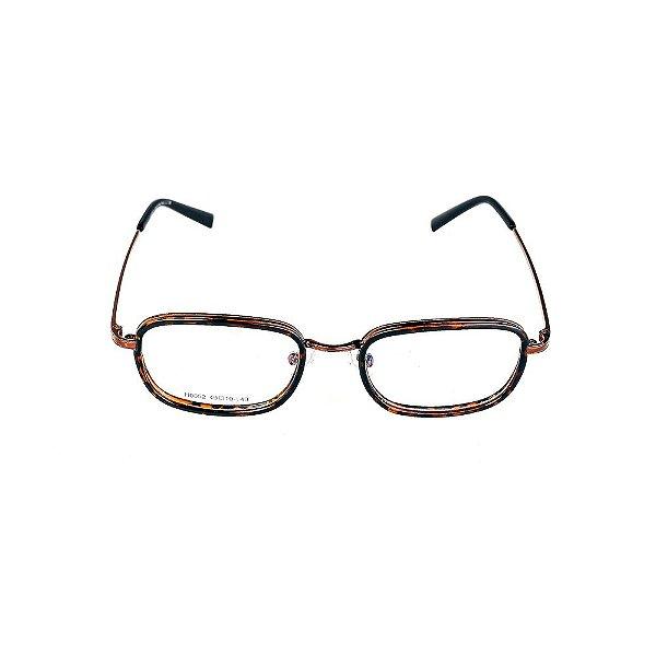 Óculos Receituário Titania Animal Print com Marrom