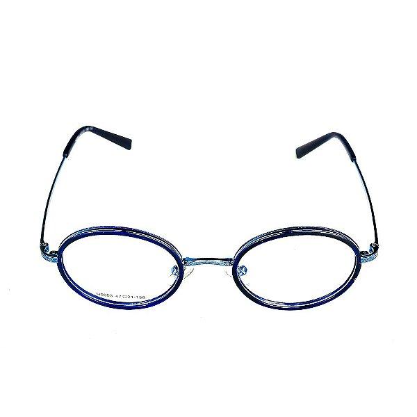 Óculos Receituário Titania Azul Redondo