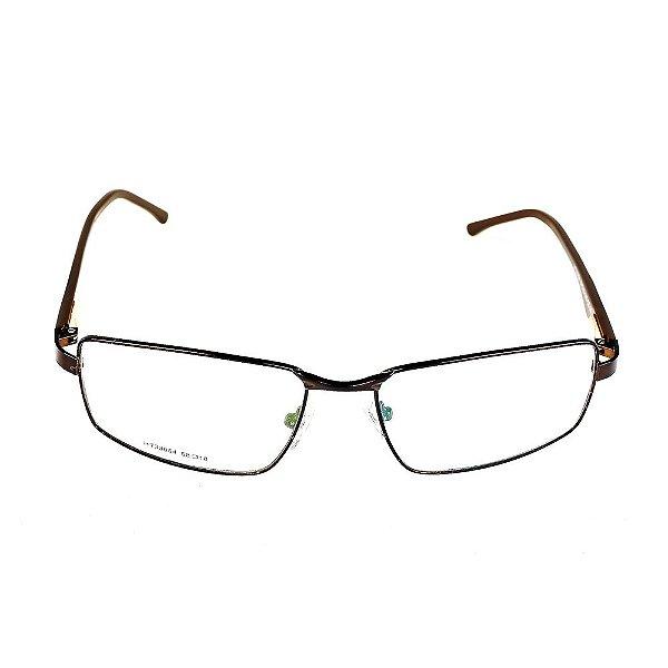 Óculos Receituário Titania Marrom com Preto