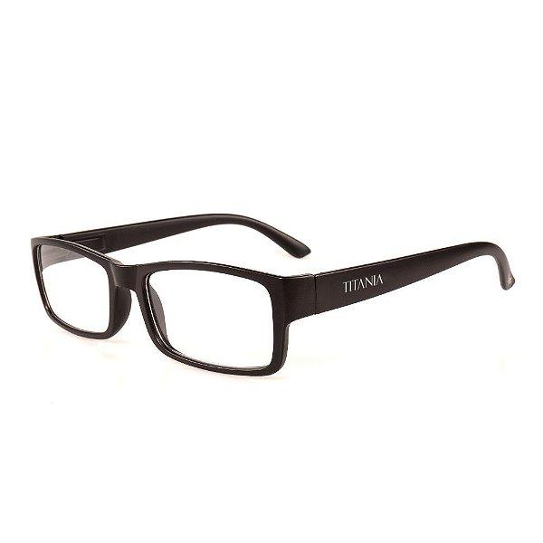 Óculos Receituário Titania Preto Fosco Retangular