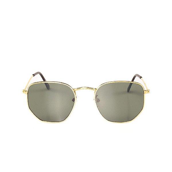 Óculos de Sol Titânia Dourado Poligonal