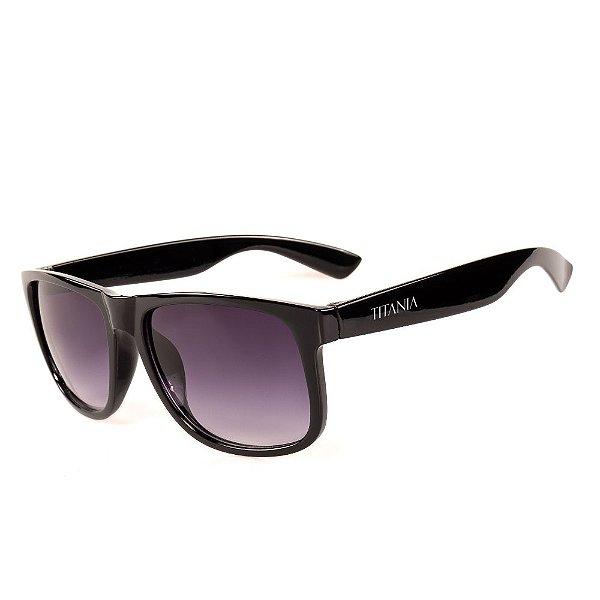 Óculos de Sol Titania Preto com Lente Degrade