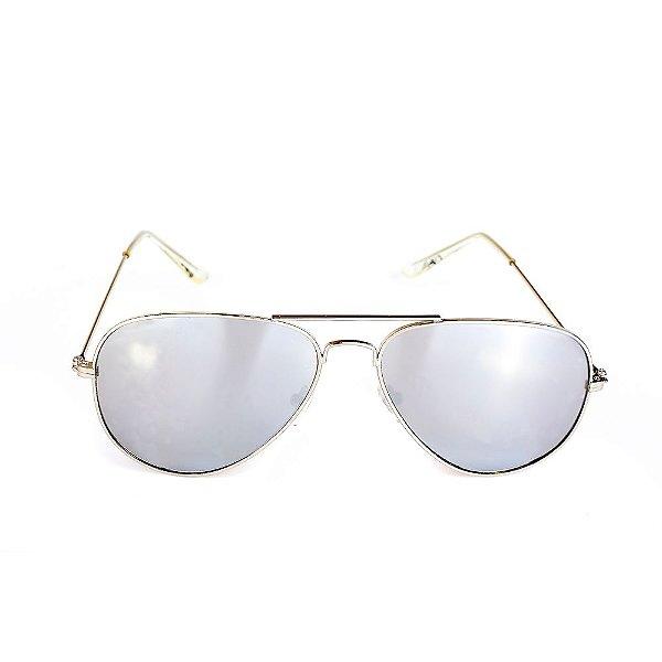 Óculos de Sol Titania Aviador Prata