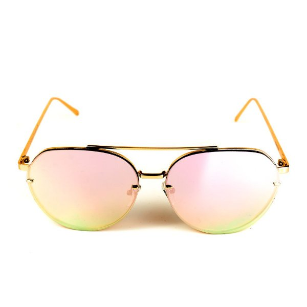 Óculos de Sol Titania Dourado com Lente Espelhada Collors