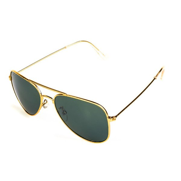 Óculos de Sol Titânia Aviador Dourado Com Lente Fumê