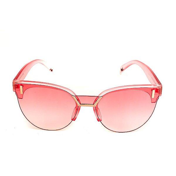 Óculos de Sol Titania Rosa Fosco Translúcido com Detalhes em Prata