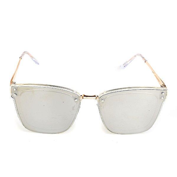Óculos de Sol Titania Dourado com Lente Espelhada