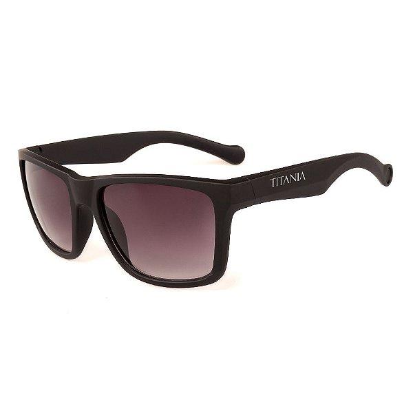 Óculos de Sol Titania Preto Fosco com Lente Degradê