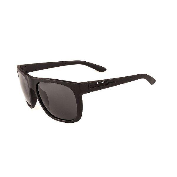 Óculos de Sol Titania Preto Fosco com Lente Fumê
