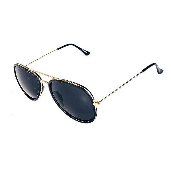Óculos de Sol Titania Preto Fosco com Dourado