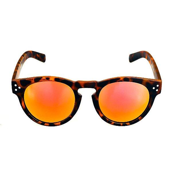 Óculos de Sol Titania Animal Print Fosco com Lente Espelhada Colors