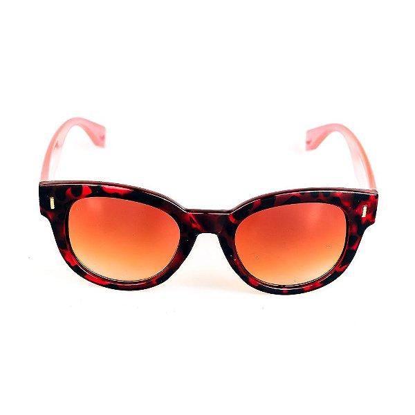 Óculos de Sol Titania Animal Print com Haste Rosada