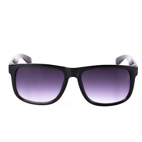 Óculos Solar Voor Vert Preto Brilhante com Lente Degradê Roxa - VVOCS25247-0