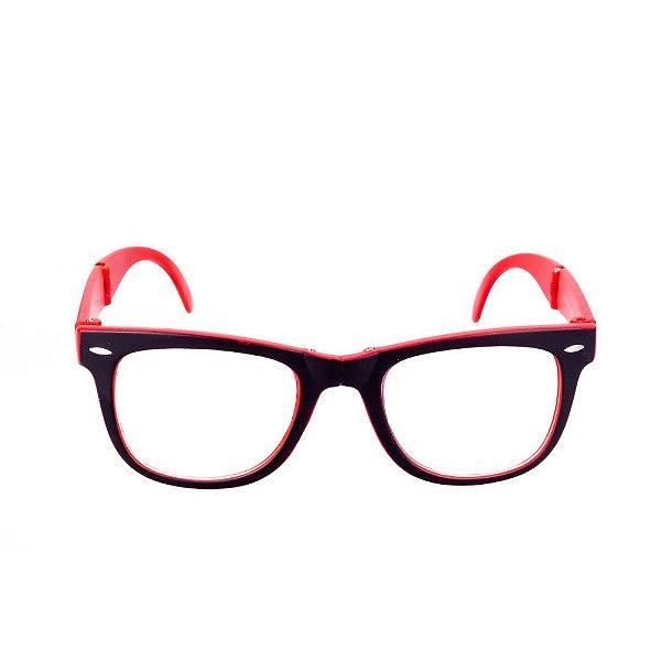 Óculos Receituário Conbelive Preto e Vermelho Fosco