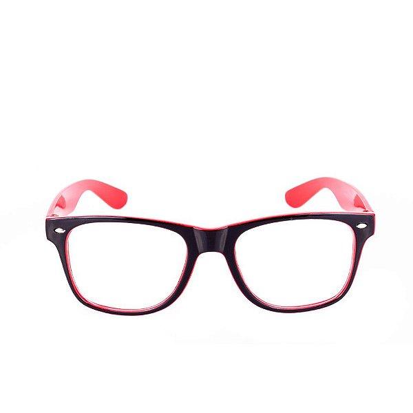 Óculos Receituário Conbelive Preto e Vermelho