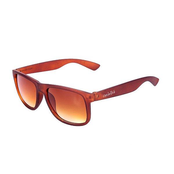 Óculos de Sol Conbelive Quadrado Marrom Fosco