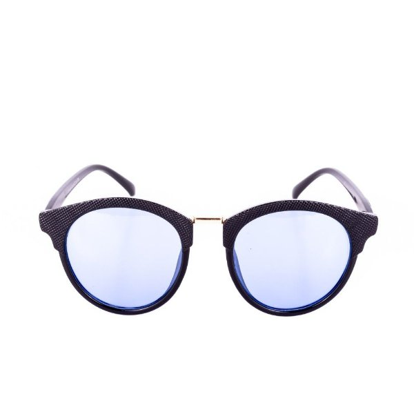 Óculos de Sol Conbelive Redondo Preto com Lente Azul