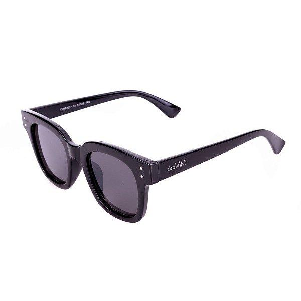 Óculos de Sol Conbelive Quadrado Preto com Lente Fume