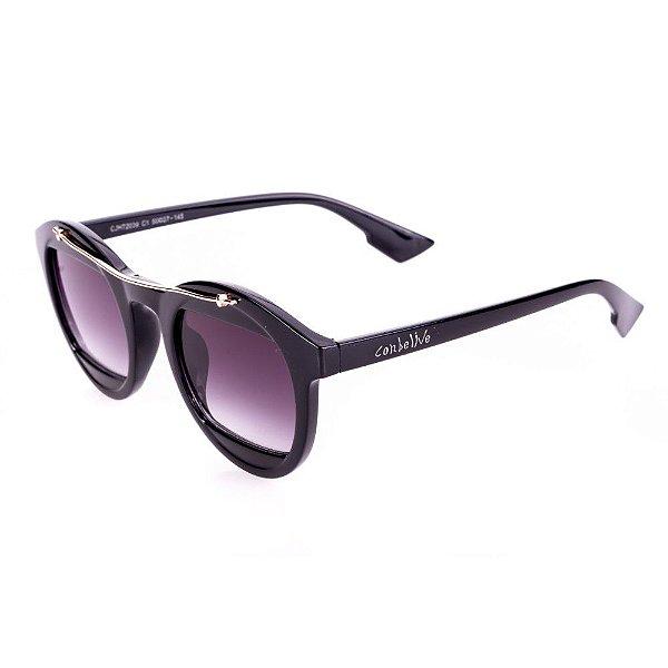 Óculos de Sol Conbelive Redondo Preto