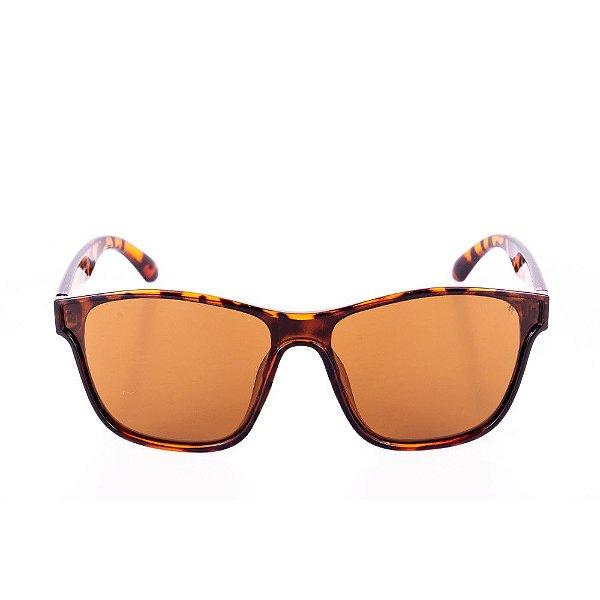 Óculos de Sol Conbelive Animal Print Marrom