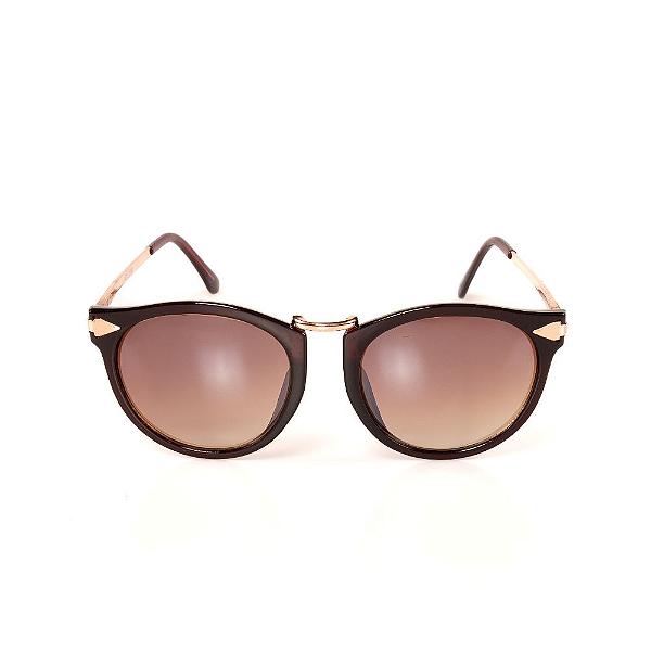 Óculos de Sol Titania - Marrom e Dourado com Lente Degradê