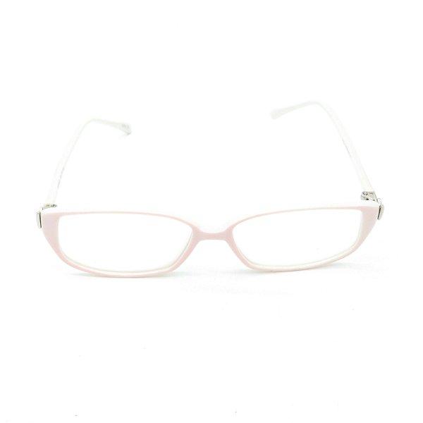 Óculos de Grau Retro Prorider Rosa e Branco com Detalhe Prata - YG8561C5