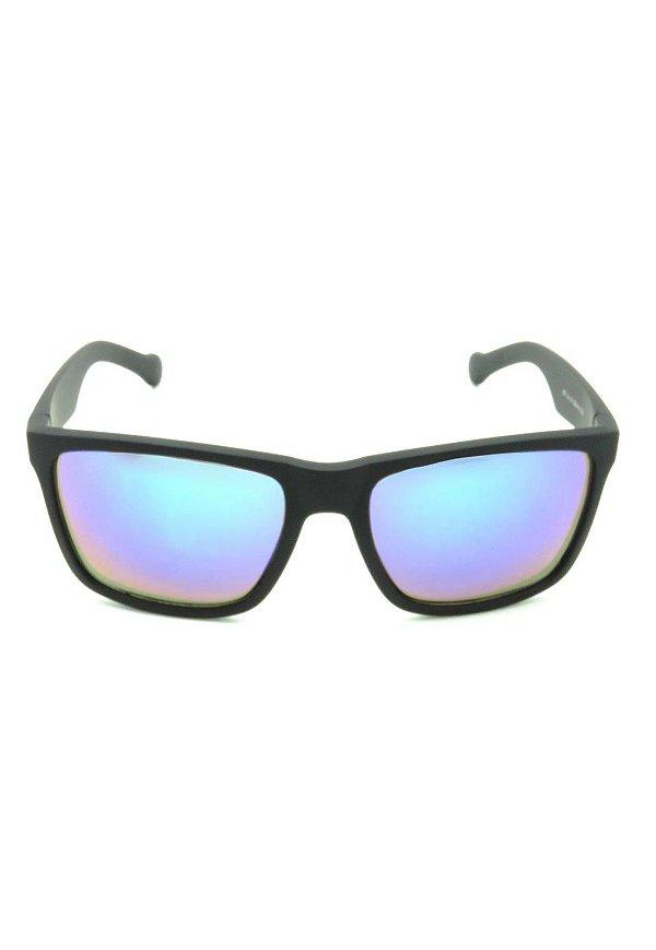 Óculos de Sol Quadrado Prorider Preto Fosco com Lente Espelhada - XZ-56-4