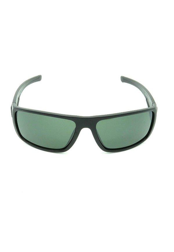 Óculos de Sol Quadrado Prorider Preto Fosco com Lente Verde - LL3100C5