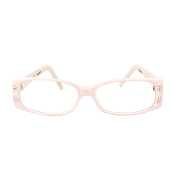 Óculos de Grau Retro Prorider Rosa e Bege com Detalhe em Pedraria - 6Blane