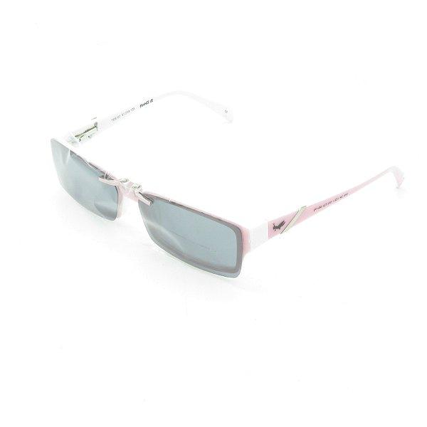 Óculos de Sol e de Grau e Solar Clip-on Retro Prorider Rosa e Branco - TD8107C3