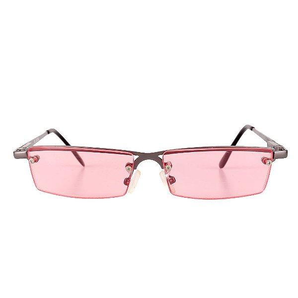 Óculos de Sol Retro Prorider Grafite Escuro Fosco com Lente Rosa - KO LANTA