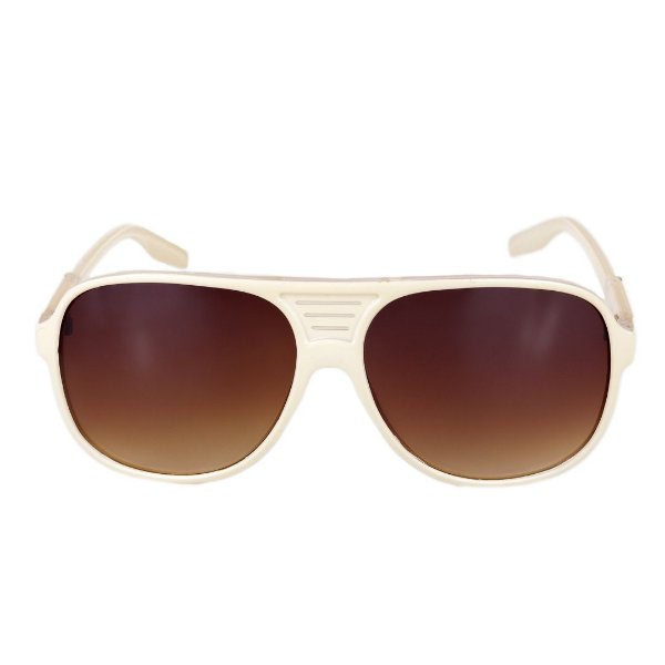 Óculos de Sol Retro Prorider Bege Amarelado com Translúcido - LM9210