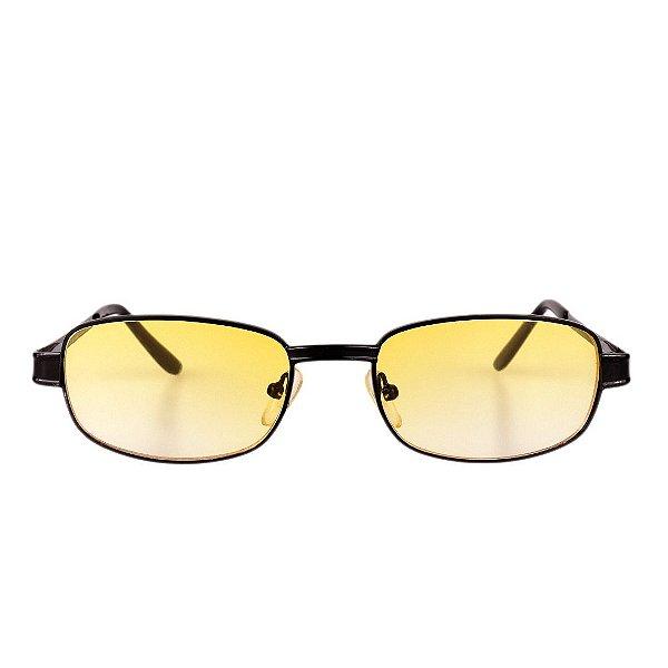 Óculos de Sol Retro Prorider Preto com Lente Degrade Amarela - Menorca1