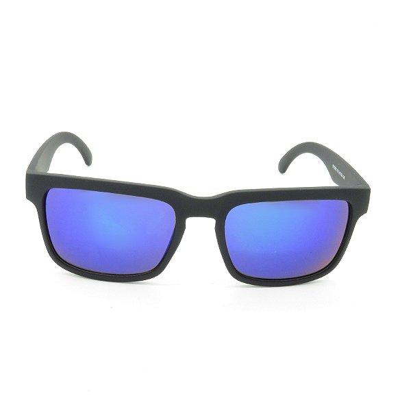 Óculos de Sol Prorider Preto Fosco com Lente Espelhada - 8103AZ