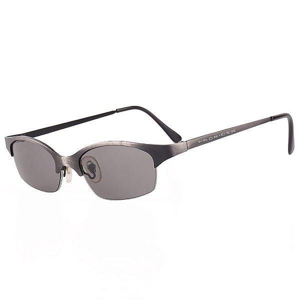 Óculos de Sol Prorider Retro Preto com Degrade Prata Fosco - A2175