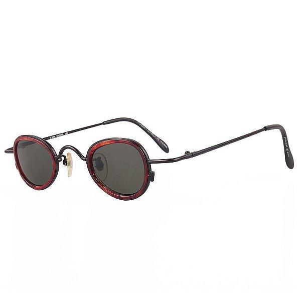 Óculos de Sol Prorider Retro Preto com Animal Print - C308-1