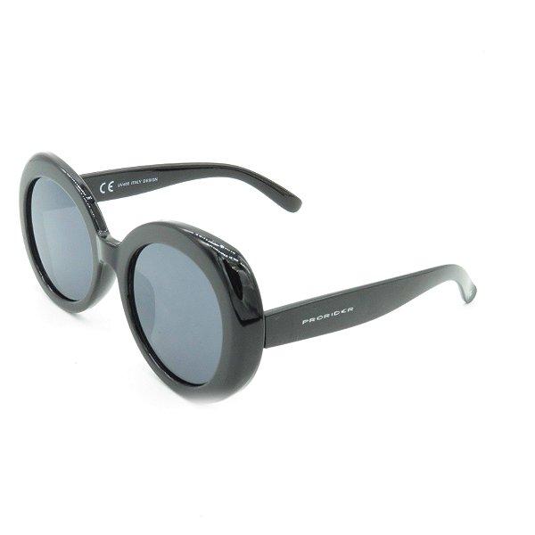 Óculos de Sol Prorider Preto Redondo com Lente Fumê - YD1783C3